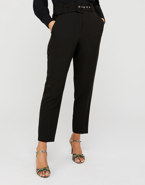 Erica Tapered Leg Trousers, Black (BLACK), large