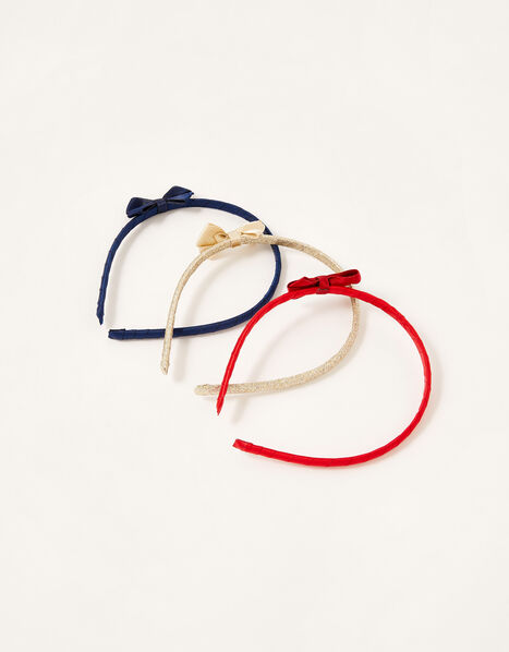 School Bow Headband Set, , large