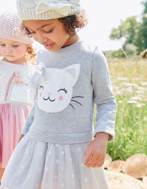 Baby Cat Sweat Disco Dress, Grey (GREY), large