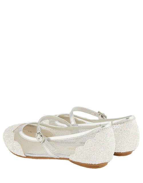 Primrose Sparkle Ballerina Shoes, Silver (SILVER), large