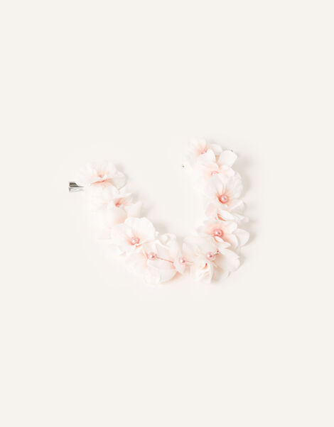Pearly Flower Garland Hair Clip, , large