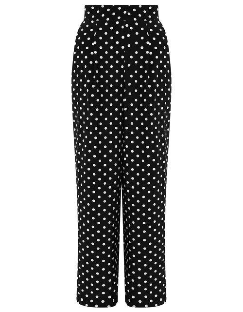 Spot Wide-Leg Trouser with LENZING™ ECOVERO™, Black (BLACK), large
