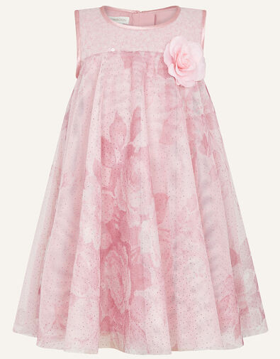 Baby Lara Rose Print Flare Dress Pink, Pink (PINK), large