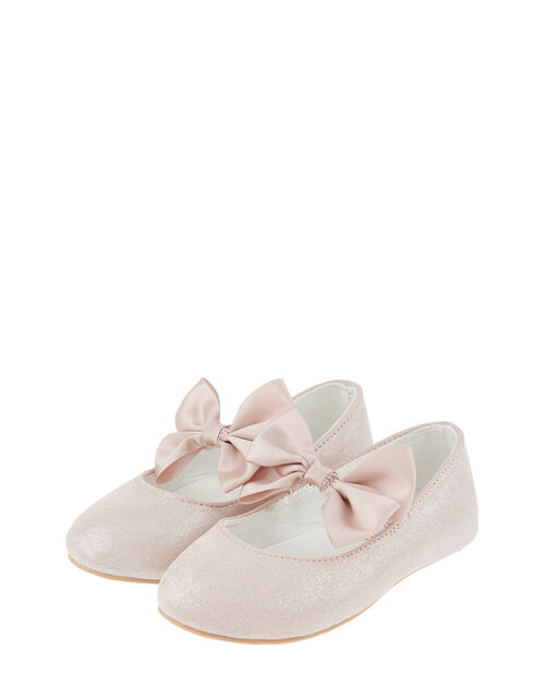 Baby Lottie Shimmer Satin Bow Walker Shoes, Pink (PINK), large