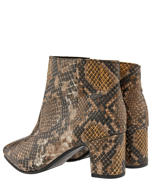 Selena Snake Ankle Boots, Multi, large