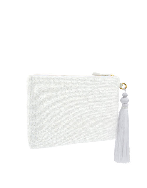 Ines I Do Bead-Embellished Pouch, , large