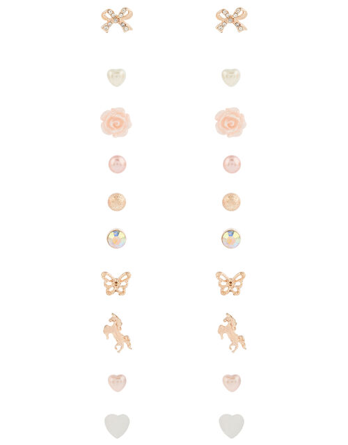 Pretty Pearly Stud Earring Multipack, , large