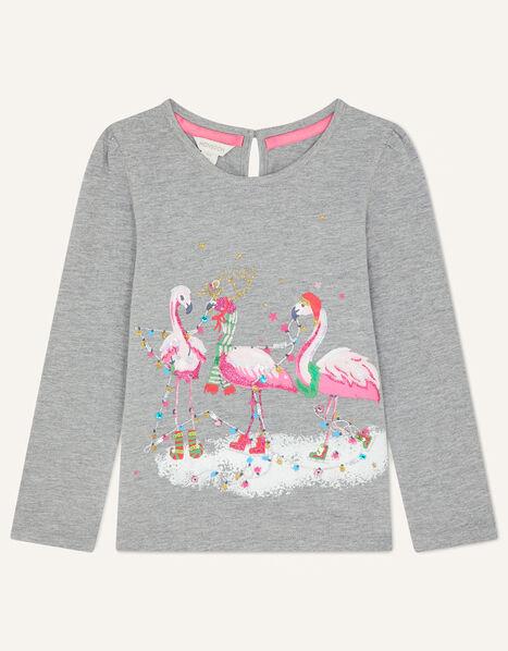 Flamingo Jersey Top Grey, Grey (GREY), large