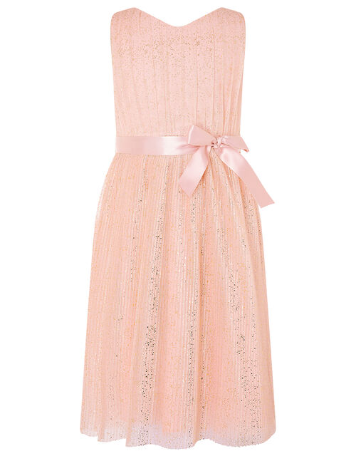 Glitter Tulle Wrap Dress, Pink (PINK), large