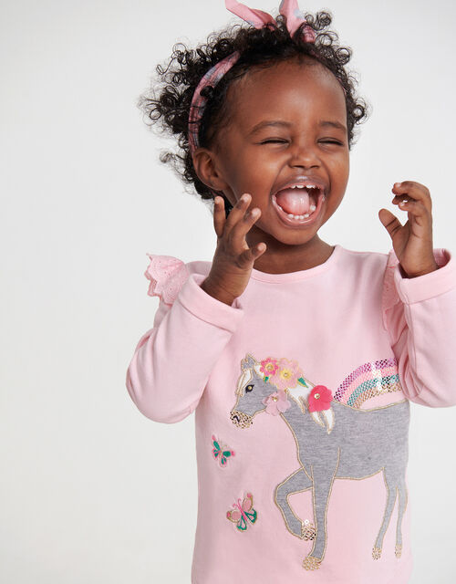 Baby Horse Sweatshirt and Leggings Set, Pink (PINK), large