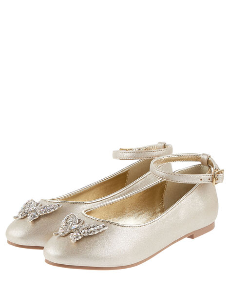 Butterfly Ballerina Flats  Gold, Gold (GOLD), large