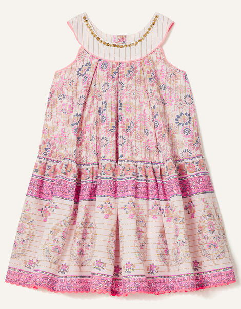 Baby Woodblock Print Dress Purple, Purple (LILAC), large