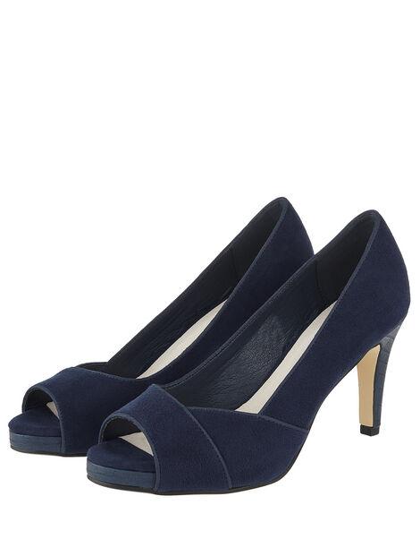 Nova Court Shoes Blue, Blue (NAVY), large