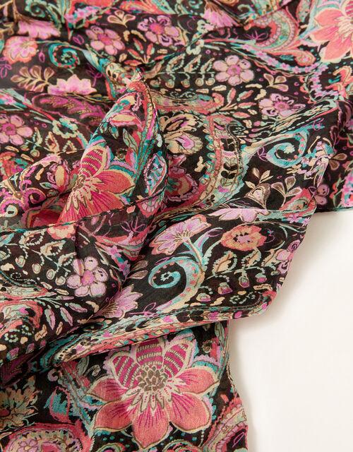Printed Silk Scarf, , large