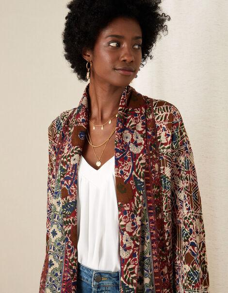 Jamie Quilted Jersey Longline Jacket Ivory, Ivory (IVORY), large