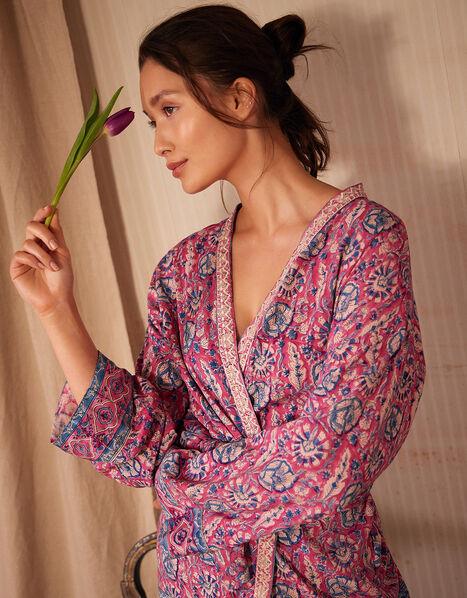 ARTISAN STUDIO Printed Kimono Pink, Pink (PINK), large