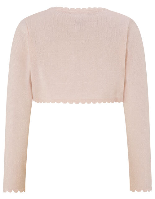 Niamh Sparkle Knitted Cardigan with Crystal Button, Pink (PINK), large