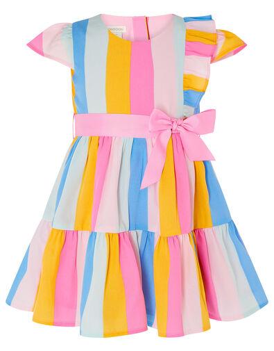 Baby Candy Stripe Dress Pink, Pink (PALE PINK), large