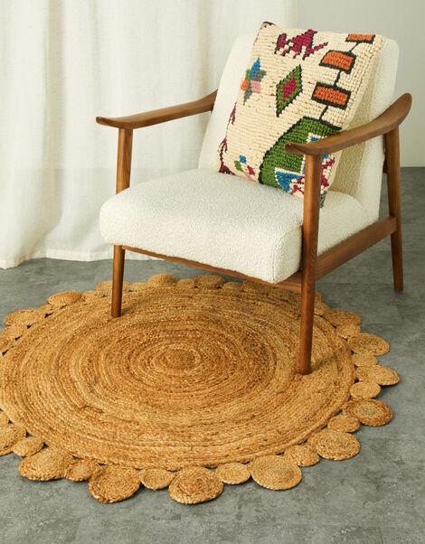 Large Raffia Round Rug, , large