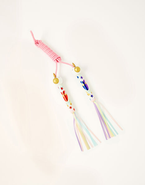 Rainbow Streamer Unicorn Skipping Rope, , large