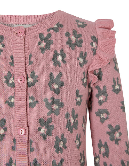 Animal Knit Cardigan, Pink (PALE PINK), large