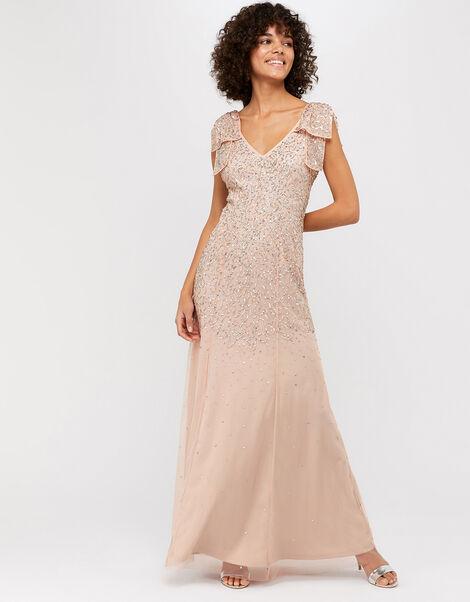 Molly Scatter Embellished Maxi Dress Pink, Pink (BLUSH), large