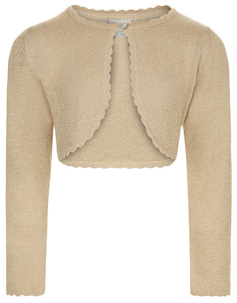 Niamh Crystal Knitted Cardigan Gold, Gold (GOLD), large