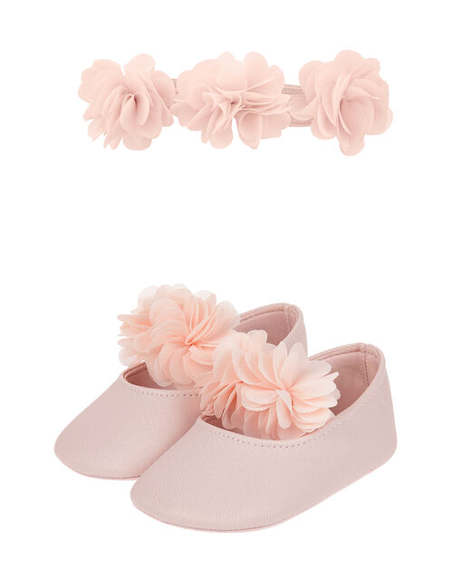 Baby Macaroon Bootie and Bando Set, Pink (PINK), large