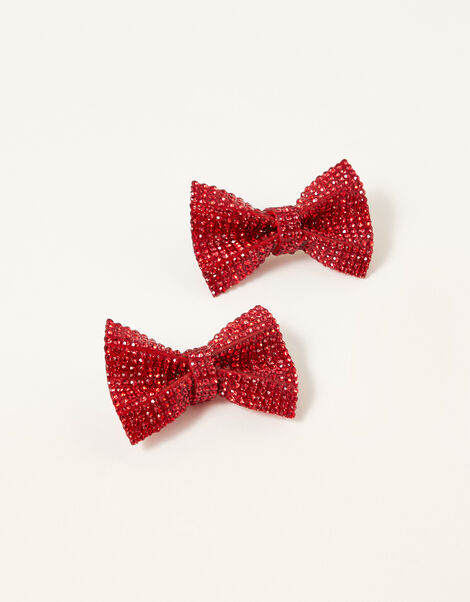 Dazzle Bow Hair Clips, , large