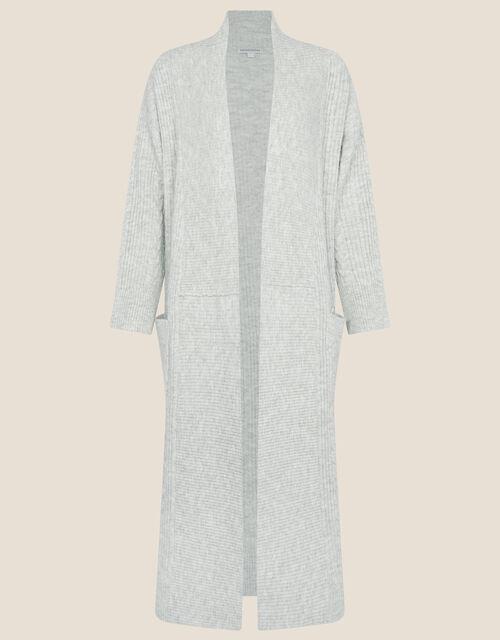 Cari Cable Knit Coatigan, Grey (GREY), large