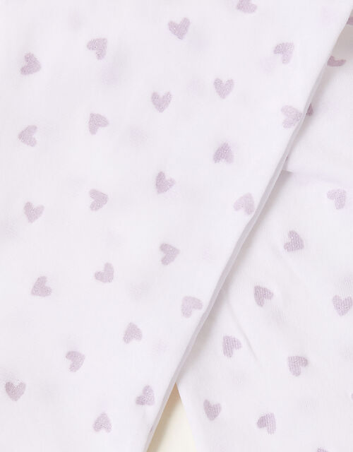 Glitter Heart Tights, Pink (PINK), large