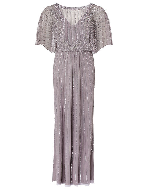 Tatiana Embellished Maxi Dress, Grey (GREY), large