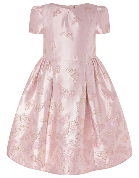 Cascading Butterfly Jacquard Dress Pink, Pink (PINK), large