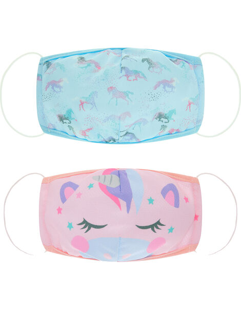 Unicorn Face Covering Set, , large