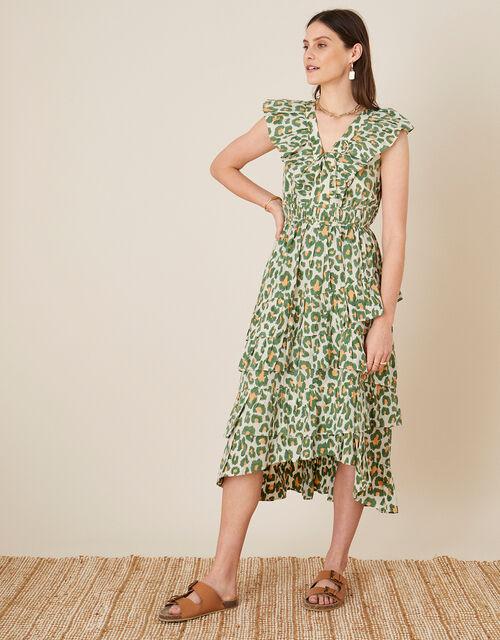 ARTISAN STUDIO Animal Print Maxi Dress , Natural (NATURAL), large