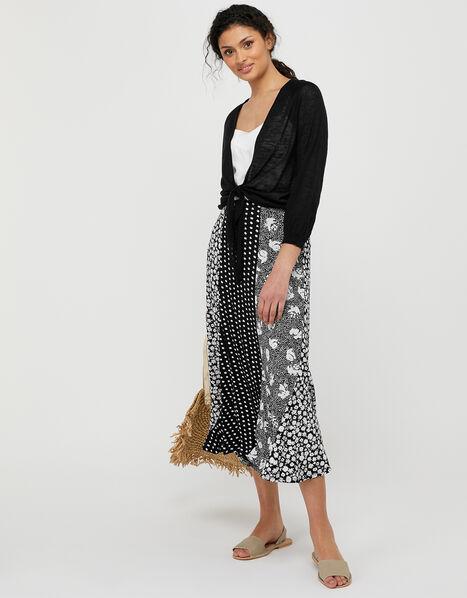 Tana Patch Print Skirt Black, Black (BLACK), large