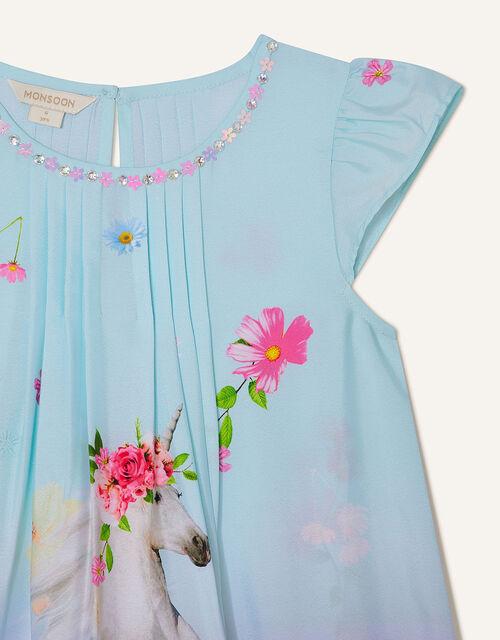 Unicorn Ombre Dress, Blue (TURQUOISE), large