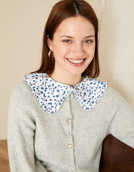Floral Print Collar, , large