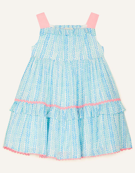 Baby Summer Printed Dress Blue, Blue (BLUE), large