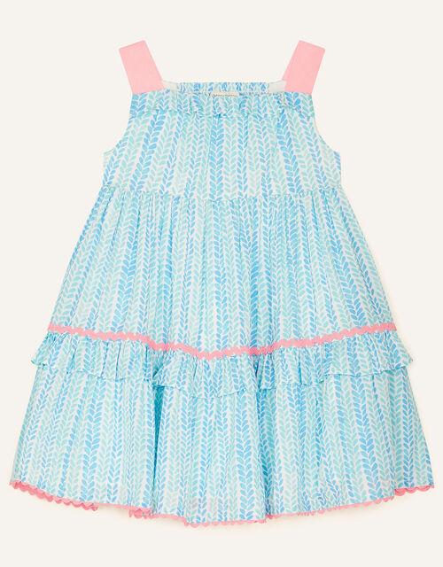 Baby Summer Printed Dress, Blue (BLUE), large