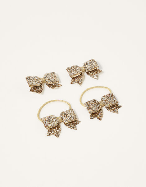 Glitter Bow Hair Accessory Set , , large