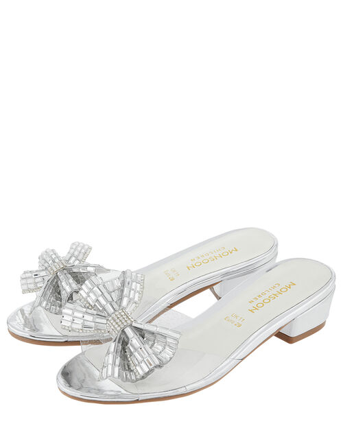 Princess Dazzle Slipper Sandals, Silver (SILVER), large