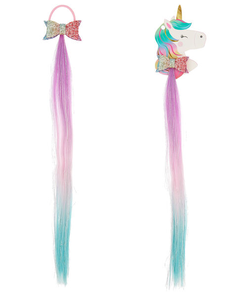 Unicorn Friends Faux Hair Hairband, , large