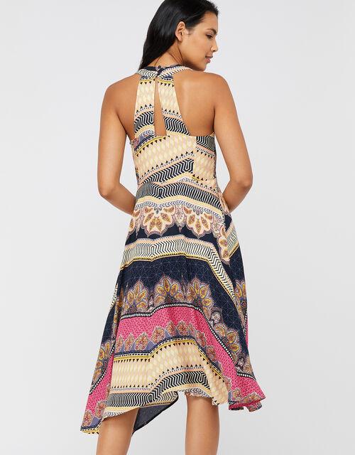 Tilly Print Midi Dress, Navy, large