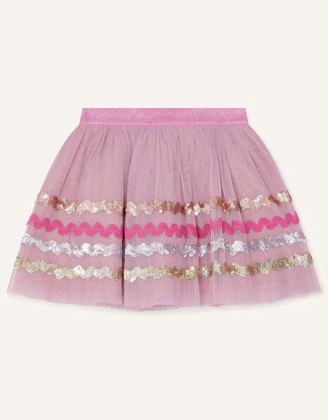 Disco Sequin Wave Skirt Pink, Pink (PINK), large