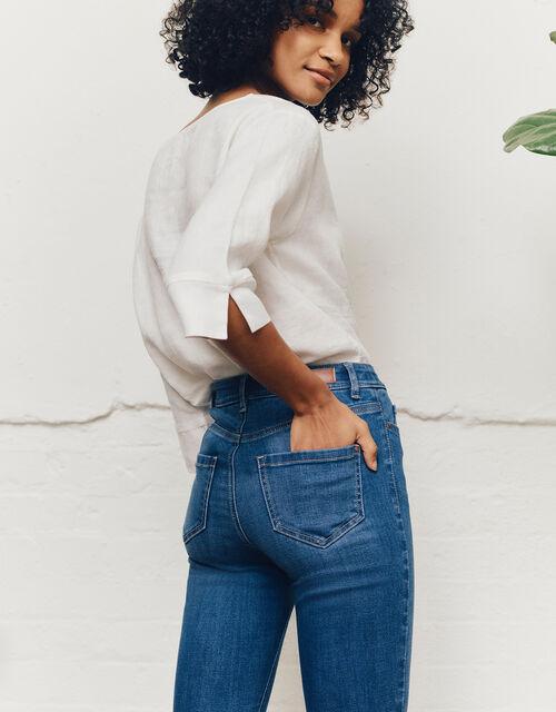 Iris Regular-Length Skinny Jeans, Blue (DENIM BLUE), large