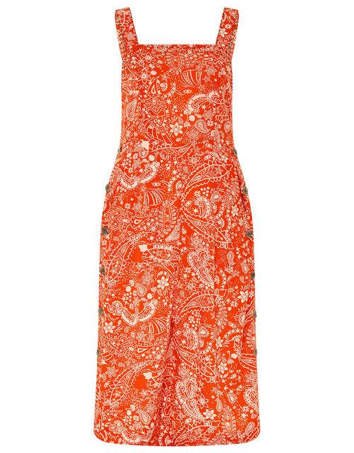 Misty Printed Midi Dress in LENZING™ ECOVERO™, Orange, large