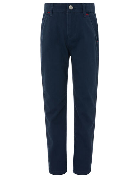Smart Chino Trousers Blue, Blue (NAVY), large