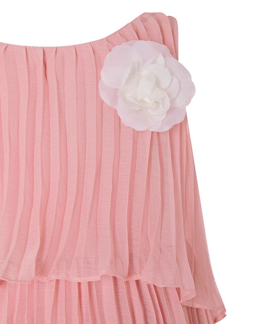 Viven Pleated Dress, Pink (PINK), large
