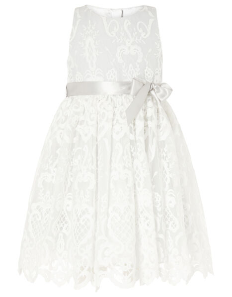 Embroidered Lace Dress Grey, Grey (GREY), large
